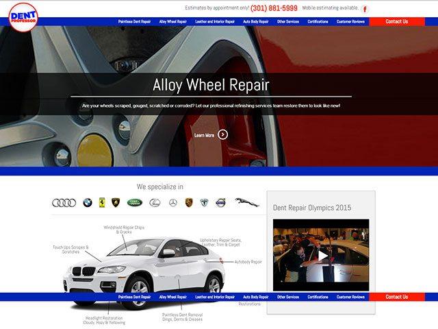Automotive Service Website Design