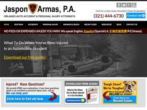 Personal Injury Law Firm Website