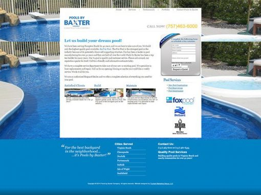 Pool Company Website