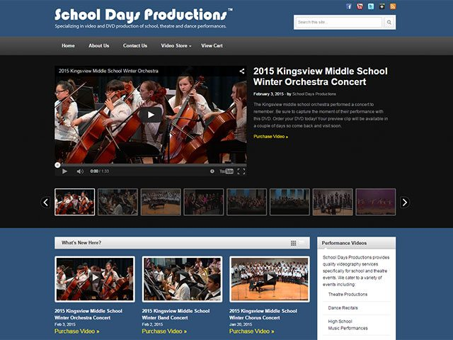 Videographer – School Days Productions