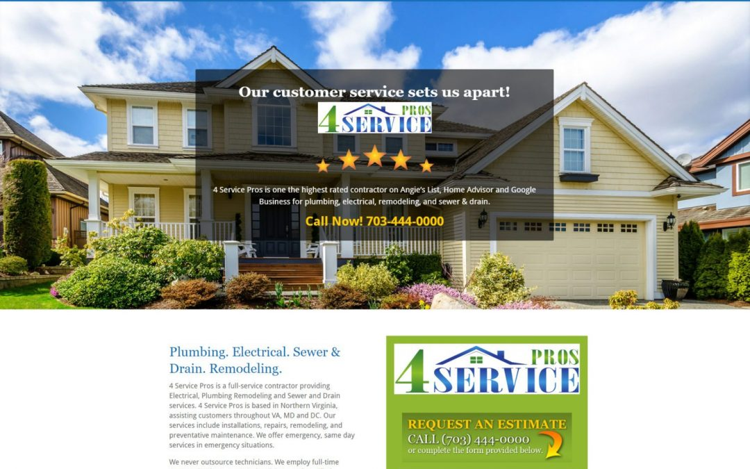 Virginia Home Service Provider Website