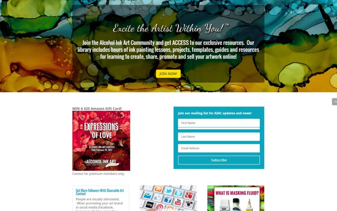 Art Community WordPress MemberPress Website