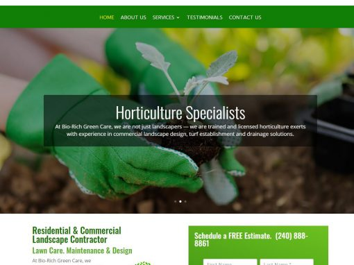 Horticulture and Landscape Design Website