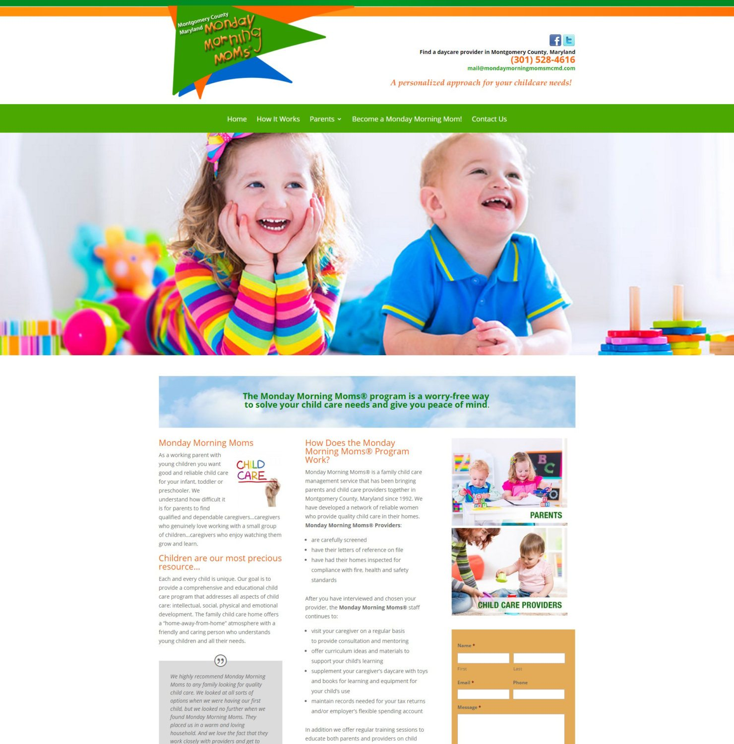 Child Care Provider Website