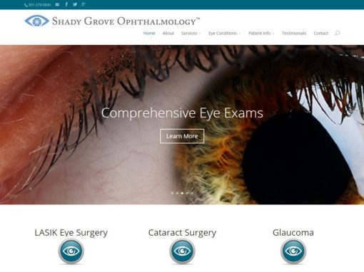 Ophthalmologist Website Design