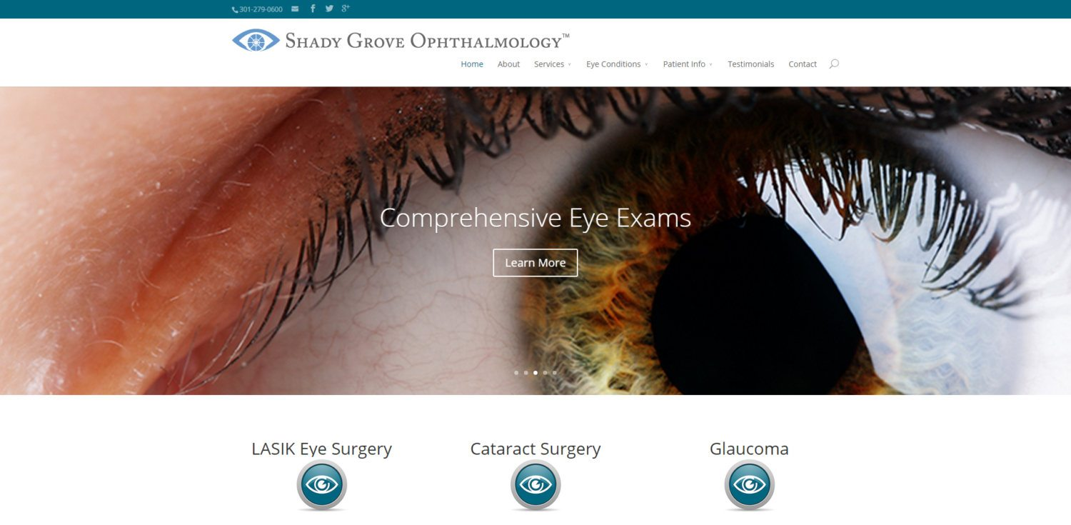 Ophthalmologist Website Design