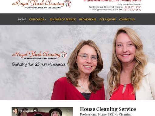 Residential and Commercial Cleaning Company Website