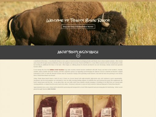 Bison Meat Suppler Ecommerce Website