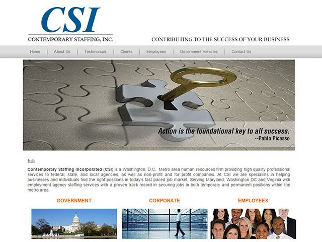 Government Placement Company Website Design