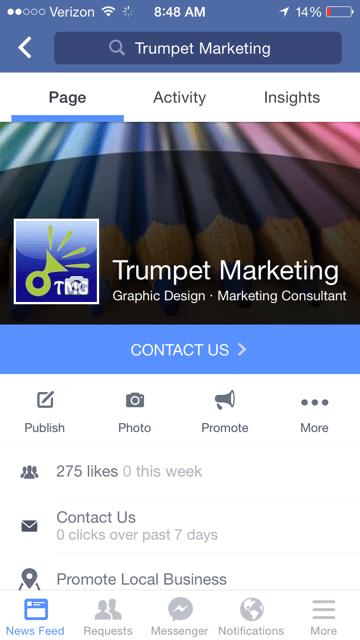 Trumpet Marketing Facebook Page Design