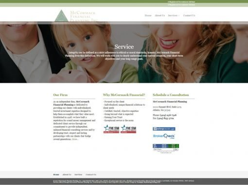 Financial Planning Firm Website