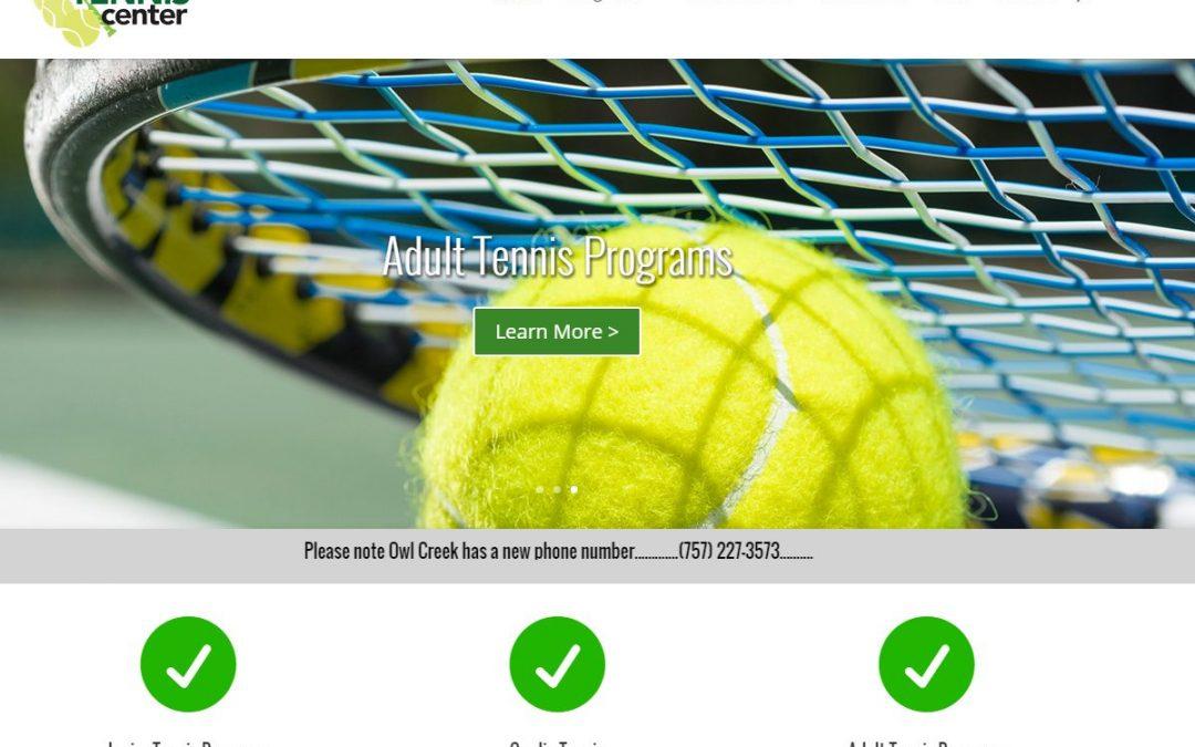 Tennis Center Website Design