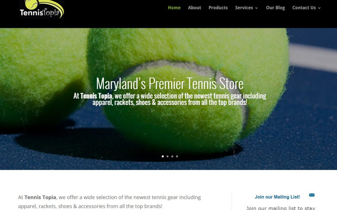 Sporting Store Website Design